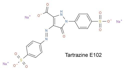 Tartrazine E102 Тартразин